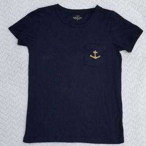 J. Crew • Collector Tees Navy Anchor Pocket
